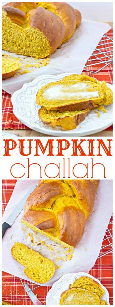 pumpkin challah bread collage