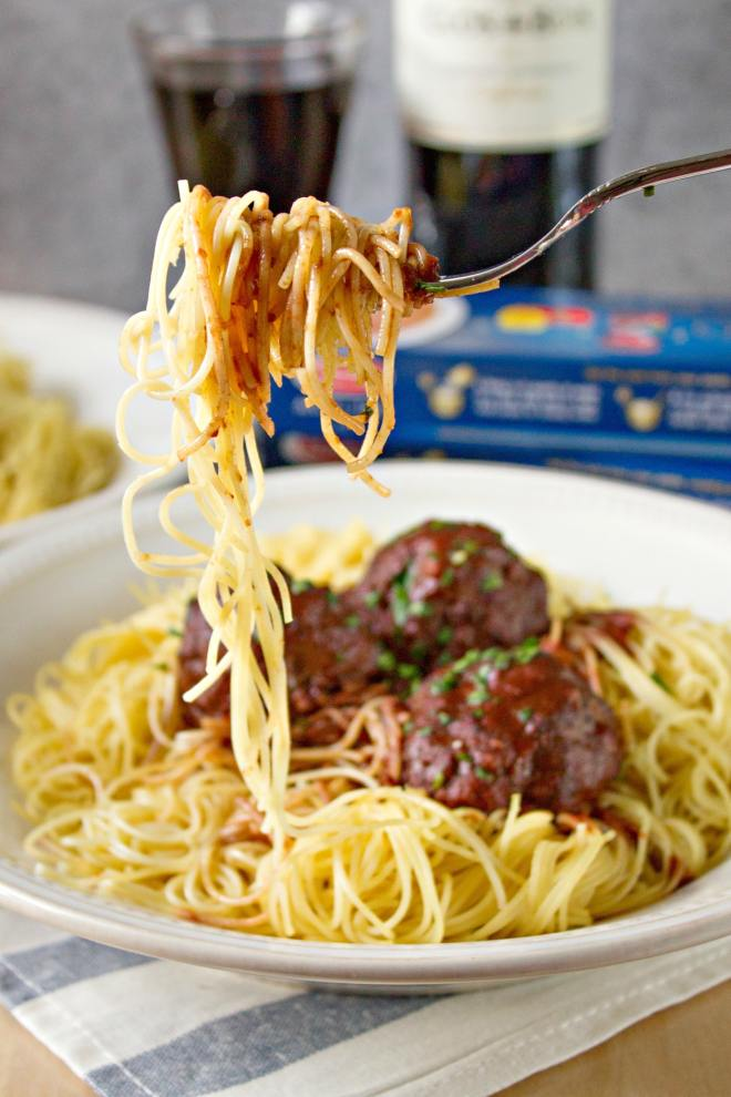drunken spaghetti and meatballs