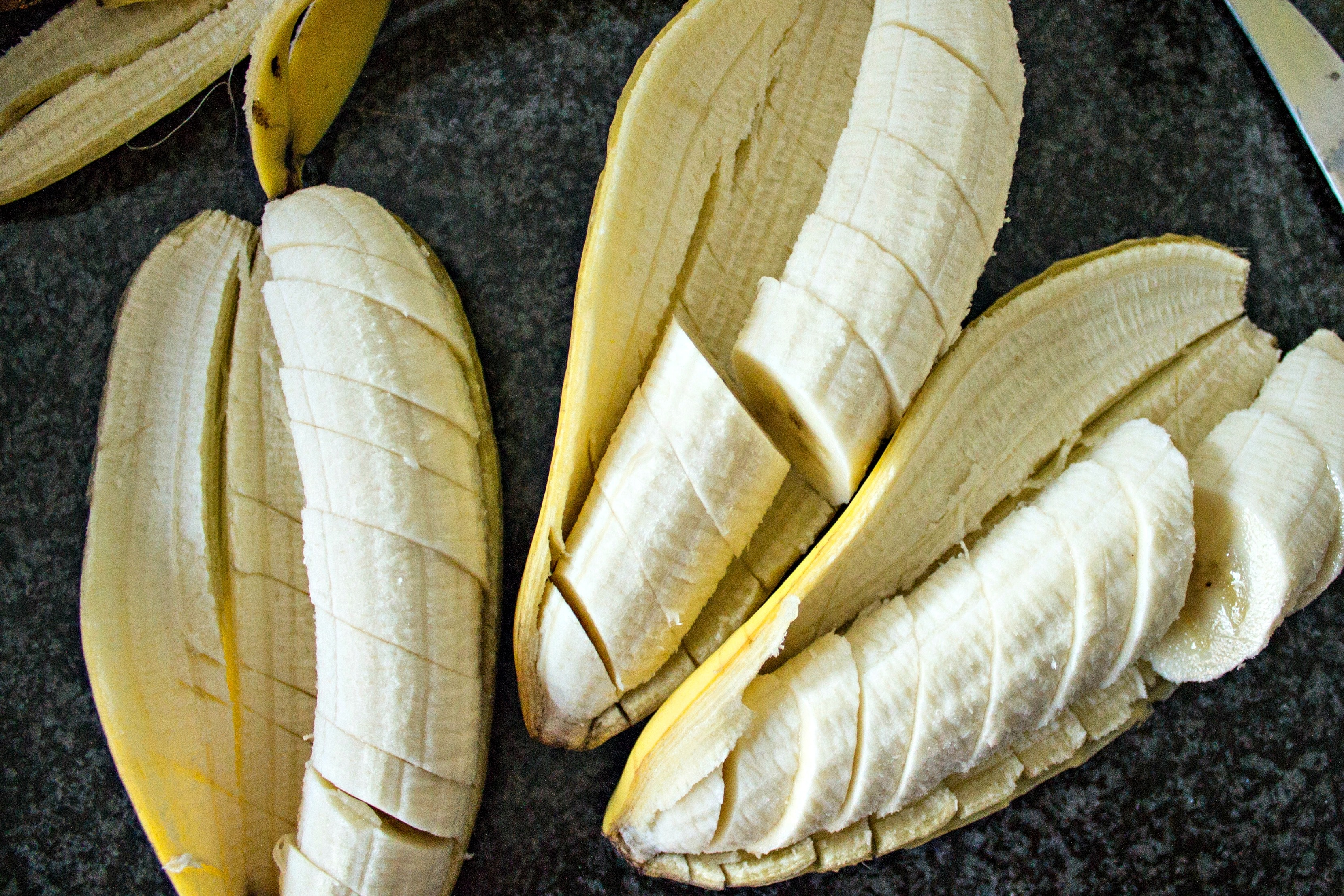 Bananas cut into slices