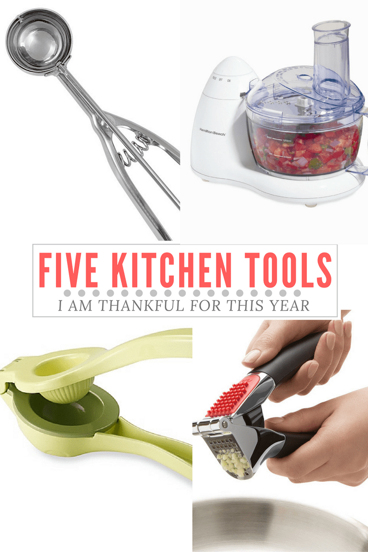 Five kitchen tools I am thankful for this year