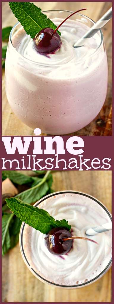 Wine Milkshakes - With just two ingredients, this is the easiest boozy drink you will ever make. Just blend dessert wine and vanilla ice cream and you are on your way to having the best adult milkshake you can imagine!
