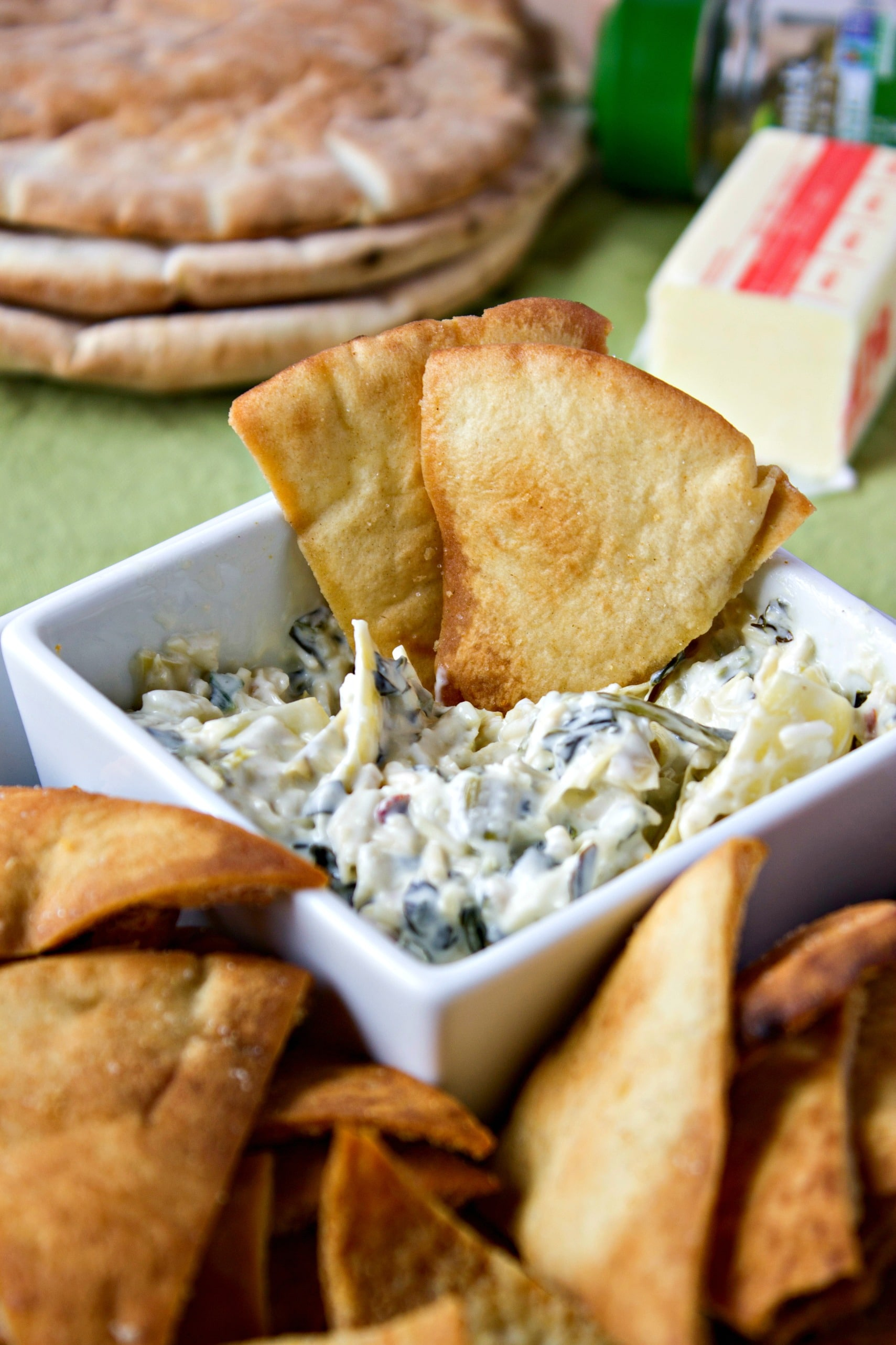 sage and browned butter pita chips