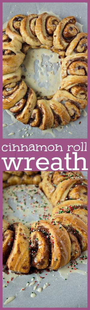 Cinnamon Roll Wreath photo collage