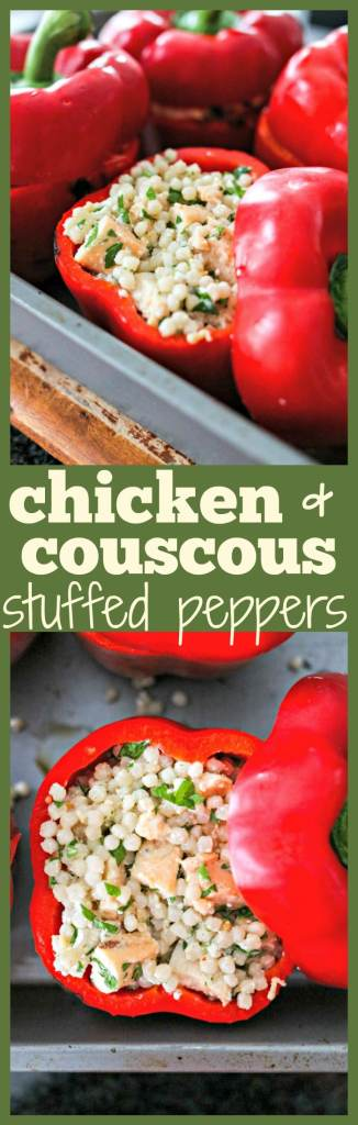 Chicken and Couscous Stuffed Peppers photo collage