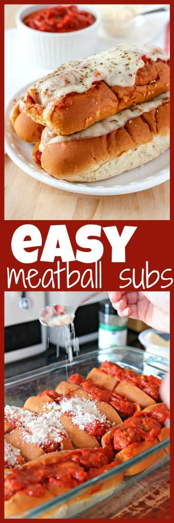 Easy Meatball Subs photo collage