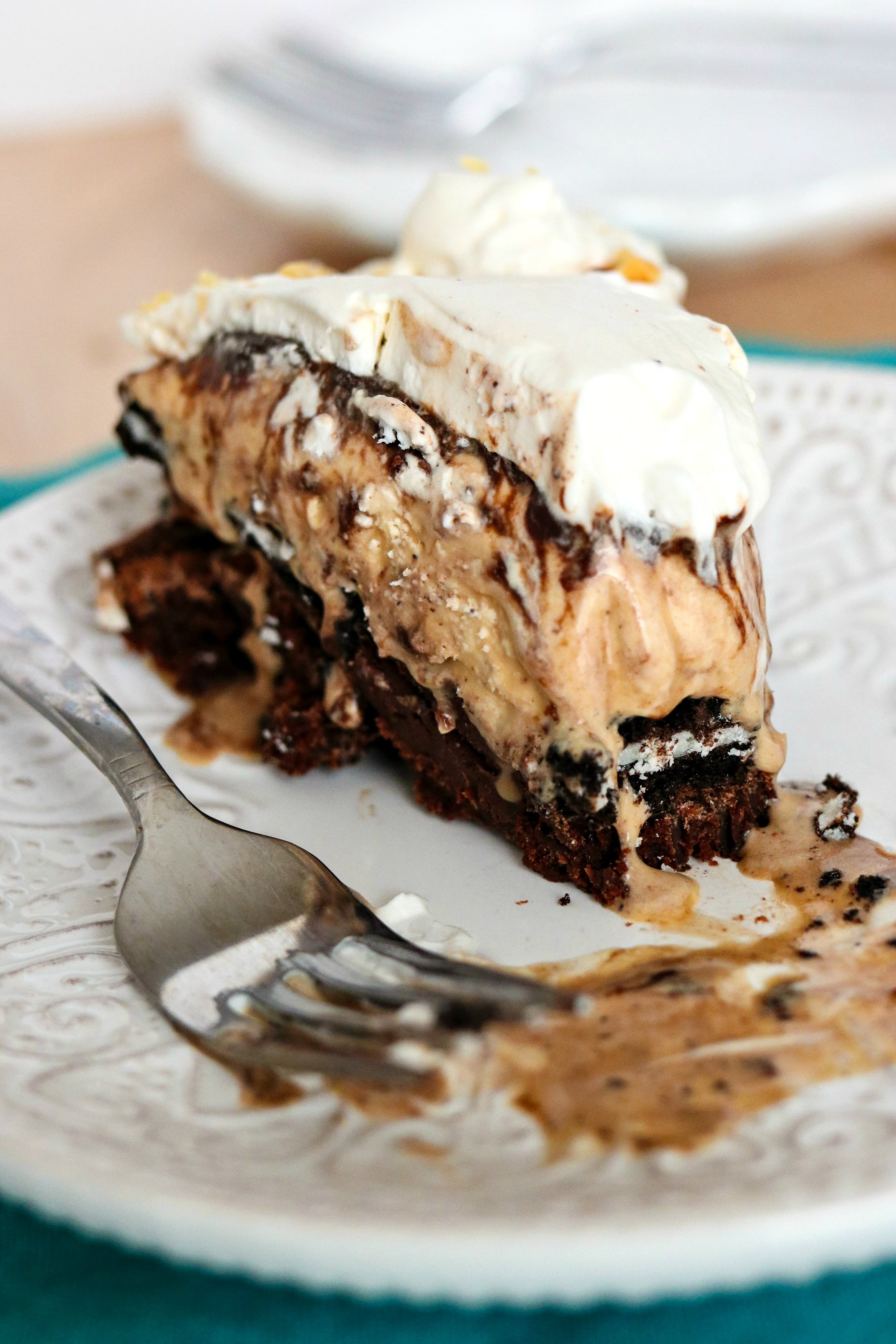 Piece of Ultimate Brownie Sundae Pie