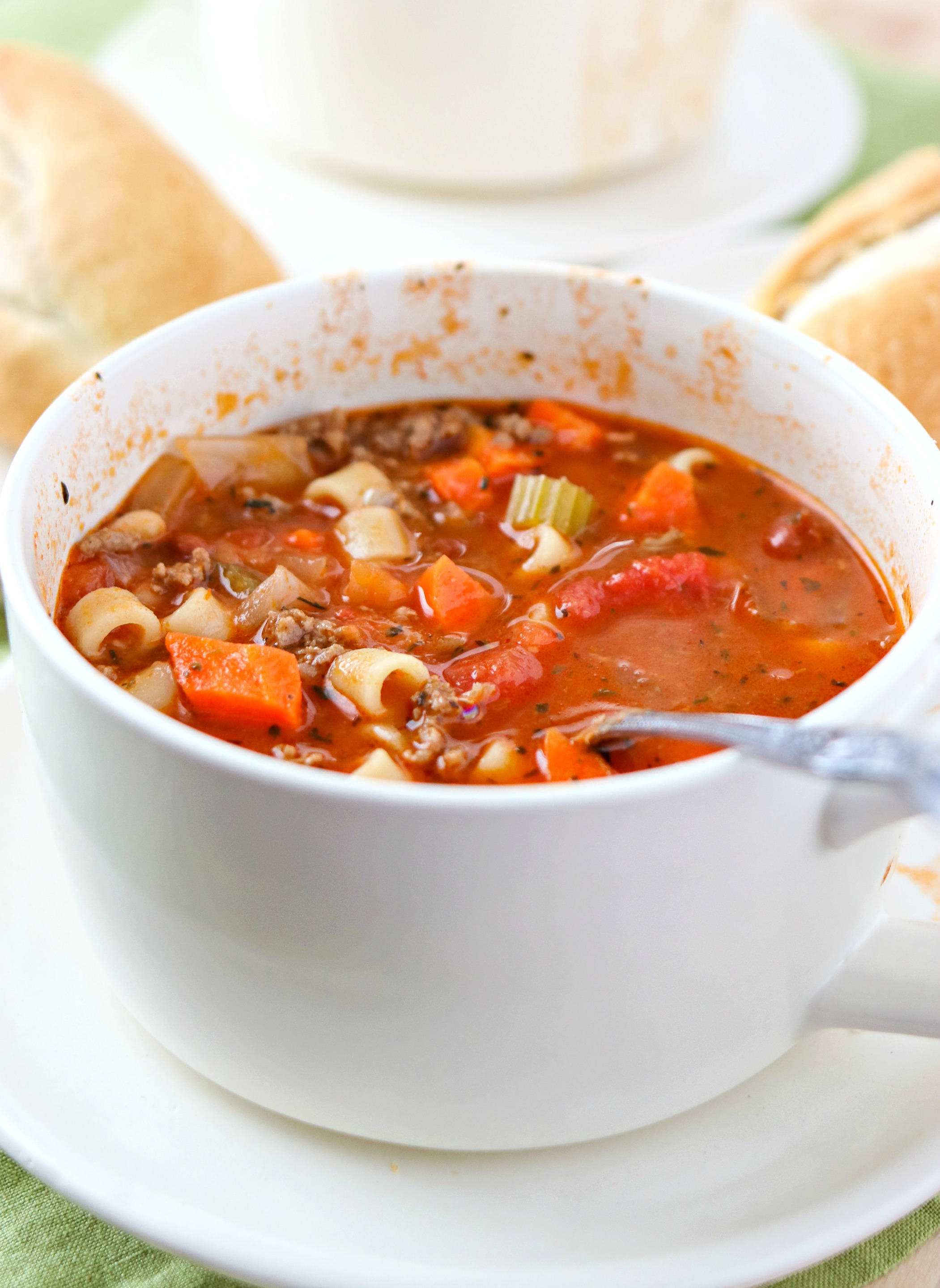 Bowl of Pasta e Fagioli Soup