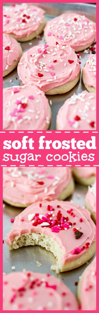 Soft, Frosted Sugar Cookies photo collage