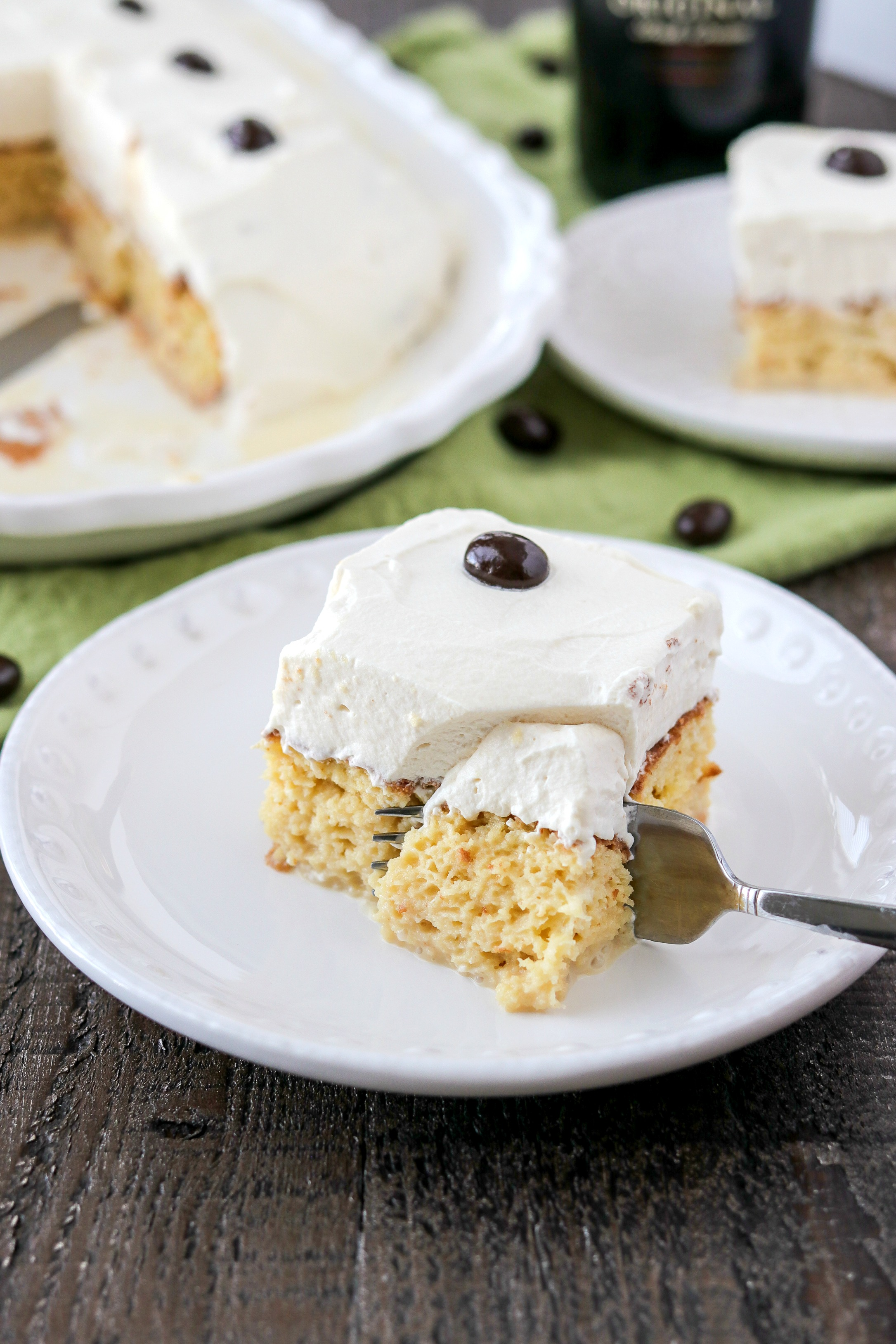 piece of Irish Cream Tres Leches