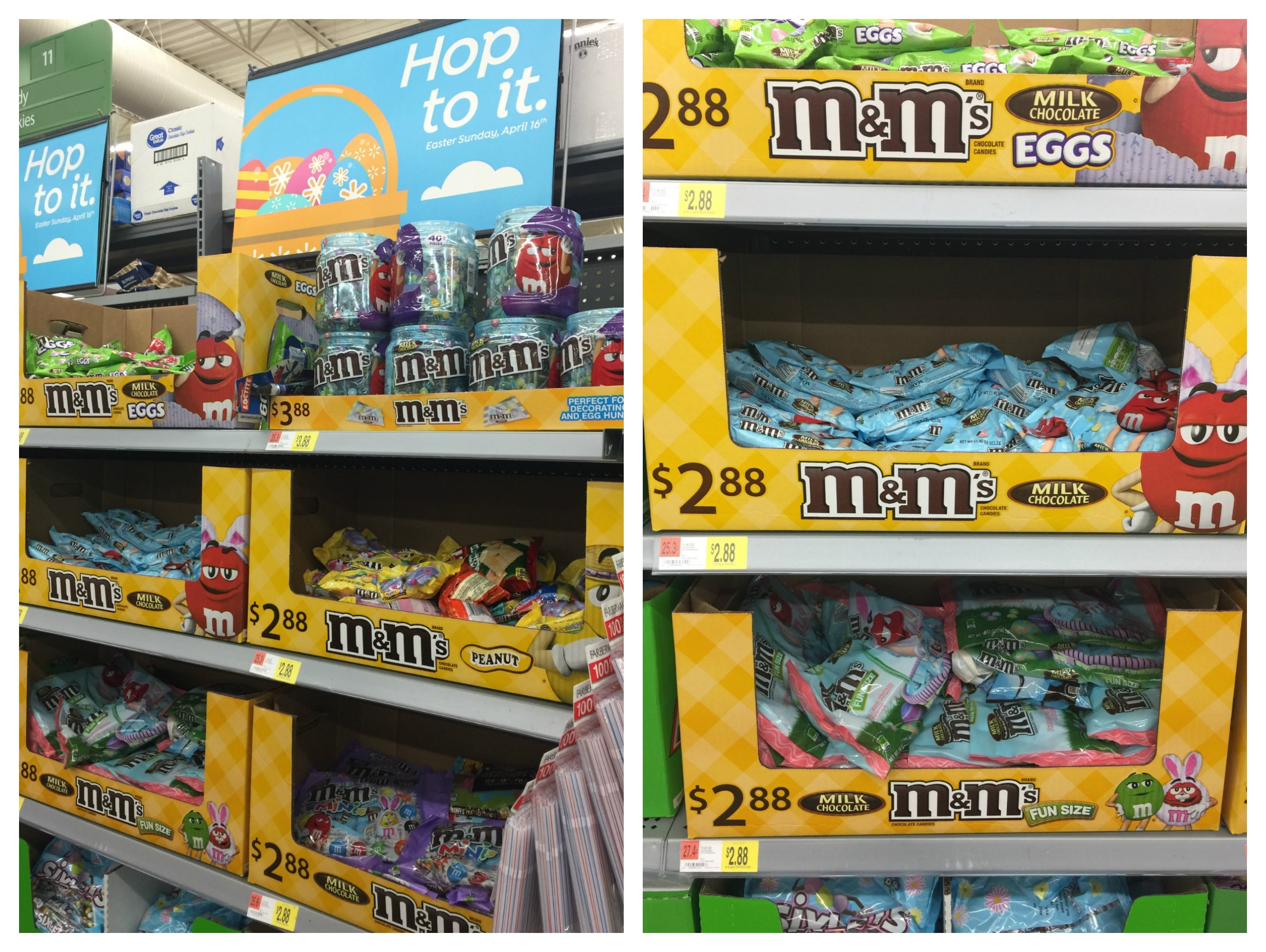Grocery store aisle full of easter candy