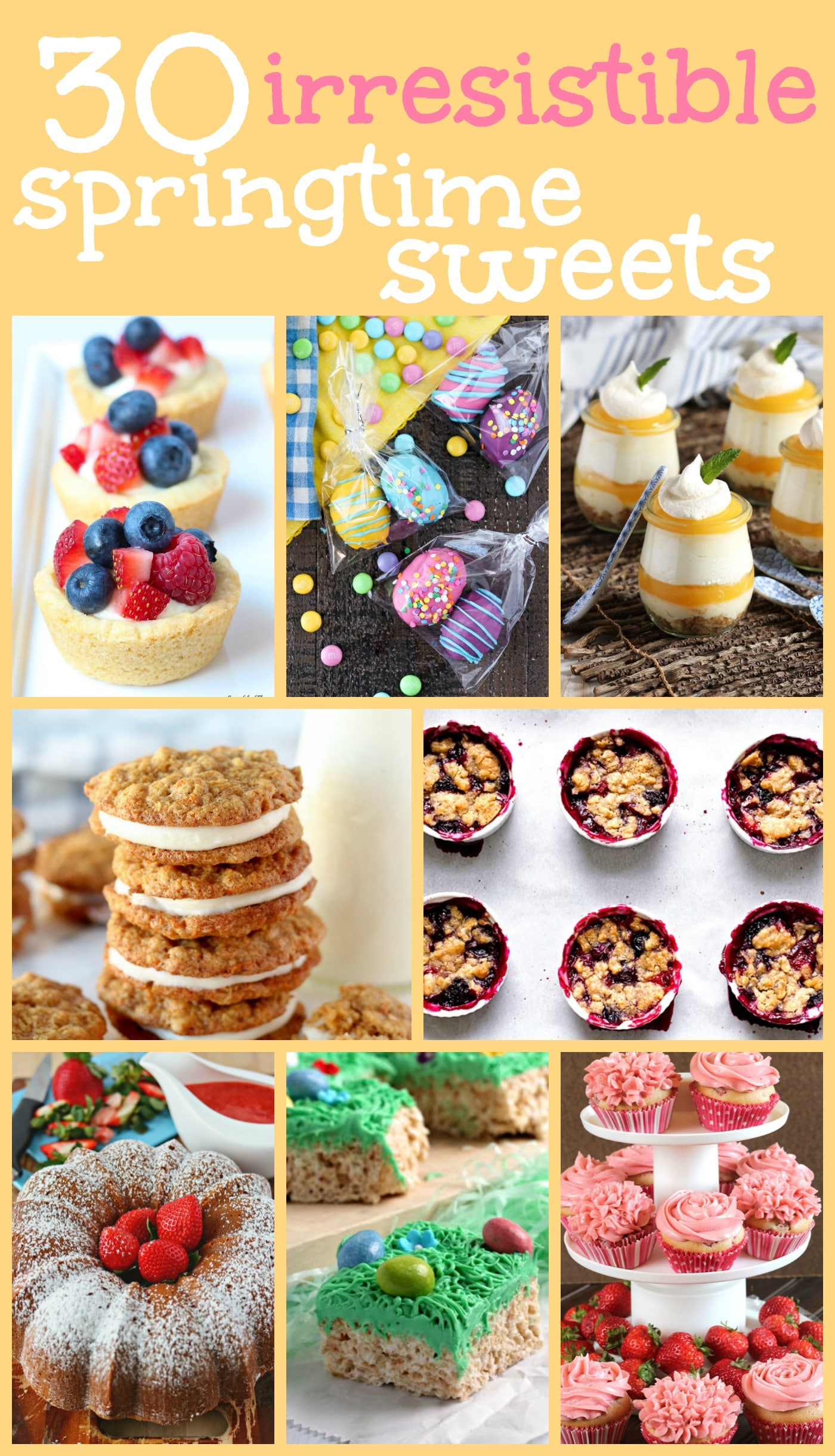 30 Irresistible Springtime Sweets photo collage