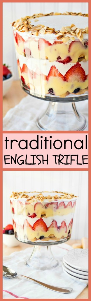 Traditional English Trifle photo collage