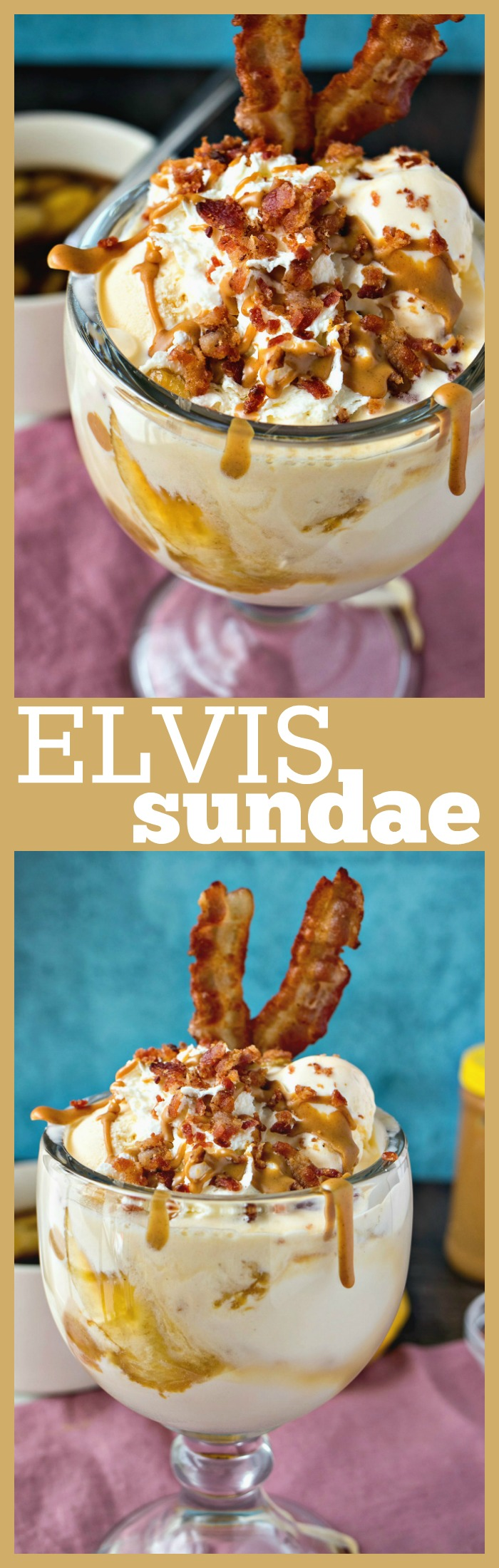 Elvis Ice Cream Sundae photo collage