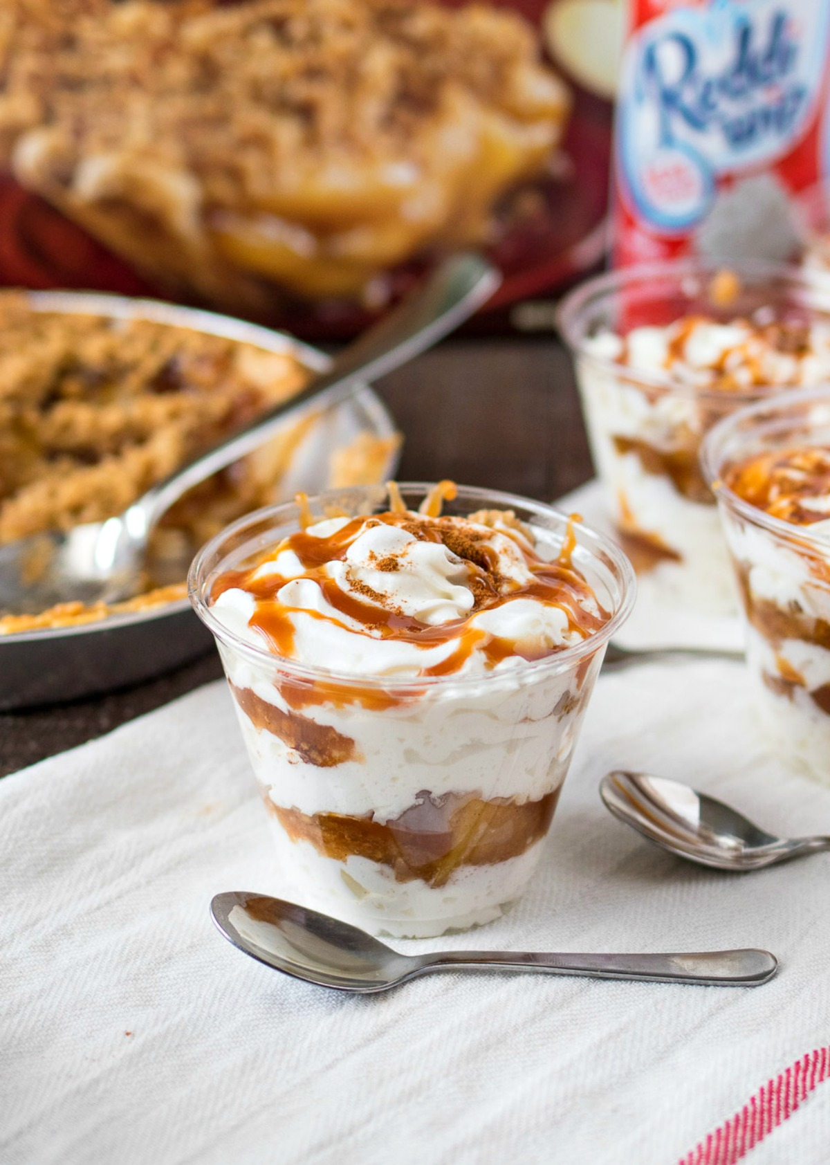 Cup of Salted Caramel Apple Pie Parfaits