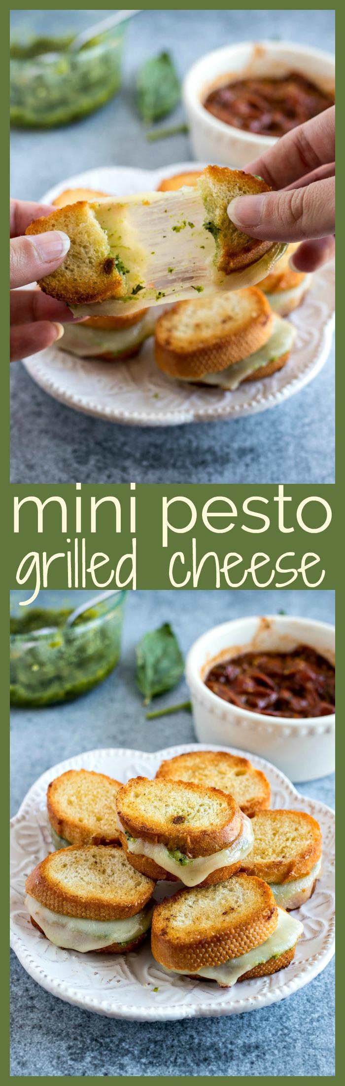 Mini Pesto Grilled Cheese photo collage