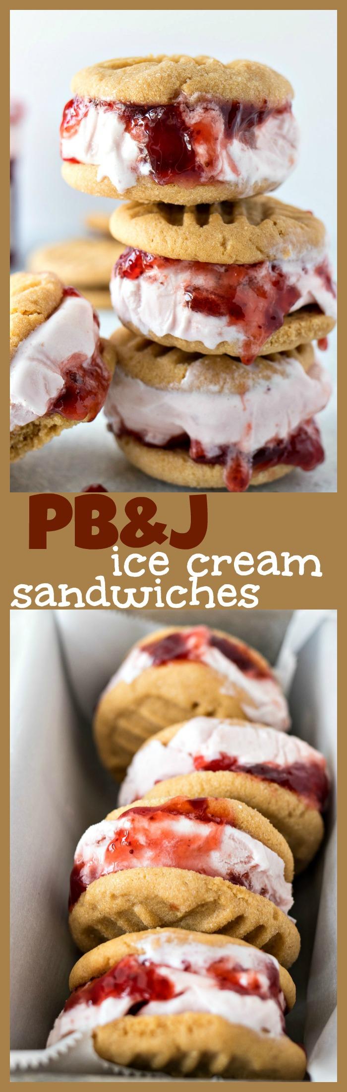 PB&J Ice Cream Sandwiches photo collage