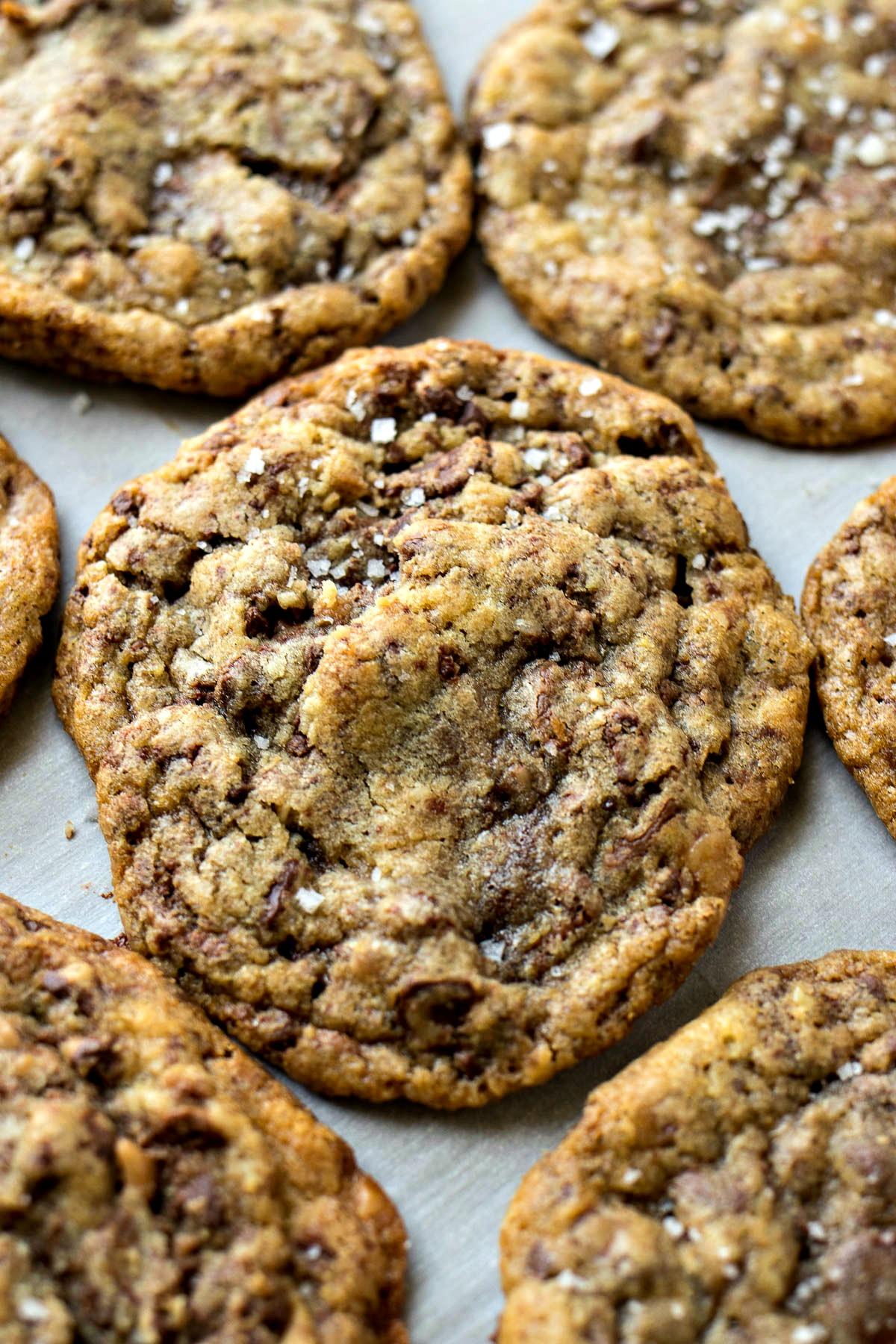 Sea Salt Toffee Chocolate Chip Cookie