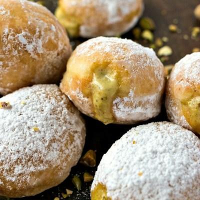 Pistachio Cream Doughnuts