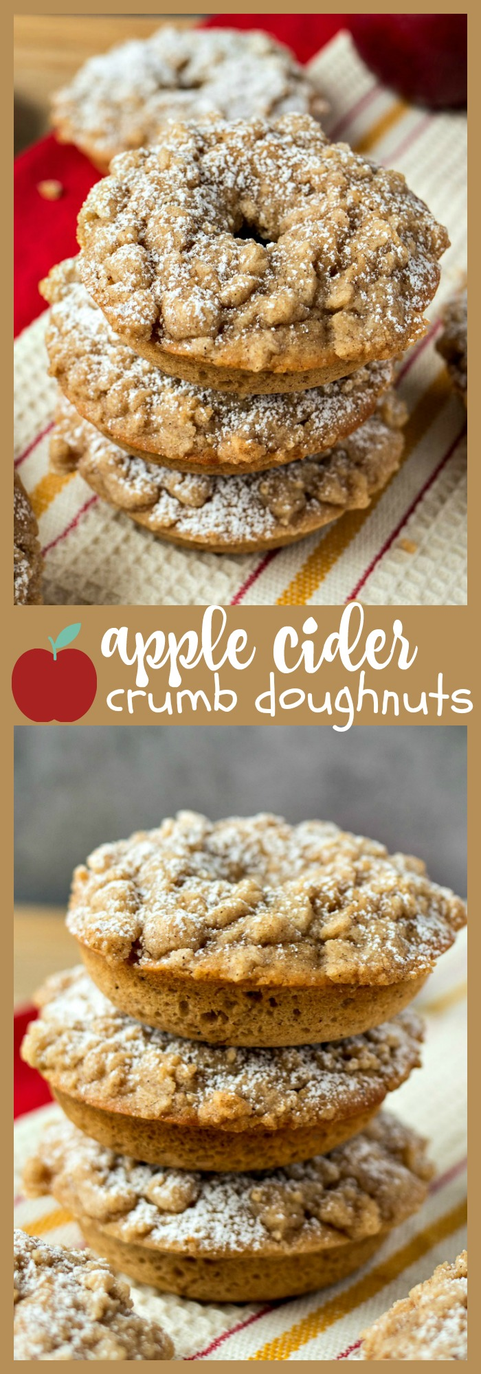 Apple Cider Crumb Doughnuts photo collage