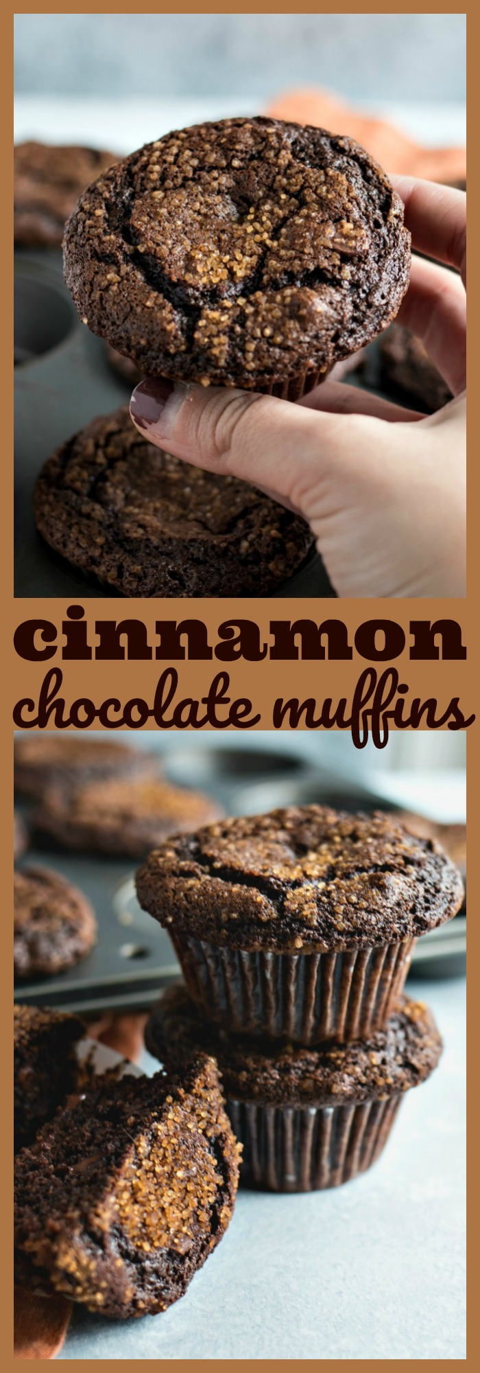 Cinnamon Chocolate Muffins photo collage