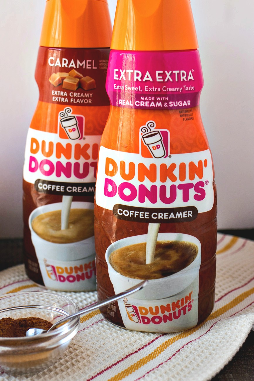 Dunkin Donuts Extra Extra and Dunkin Donuts Caramel creamers