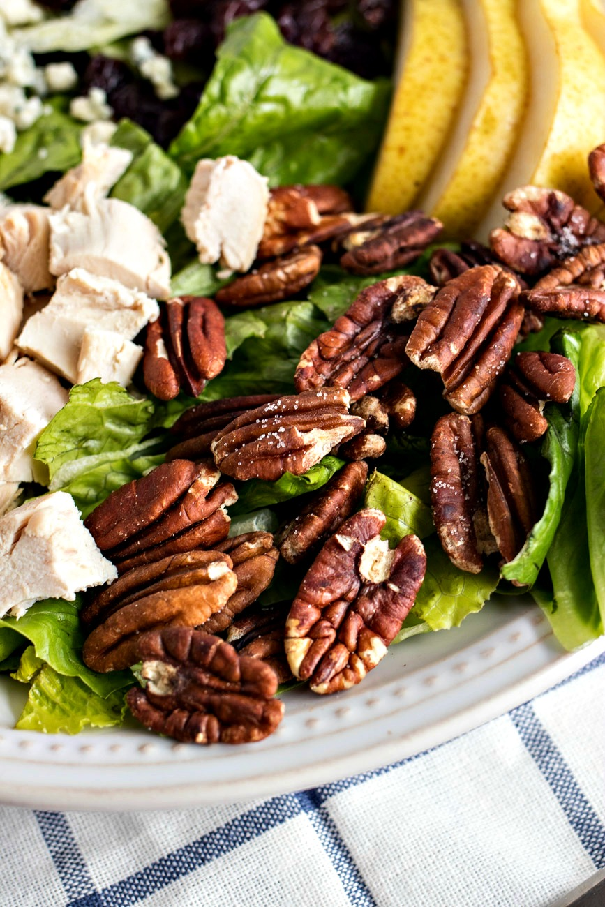 Walnuts on lettuce