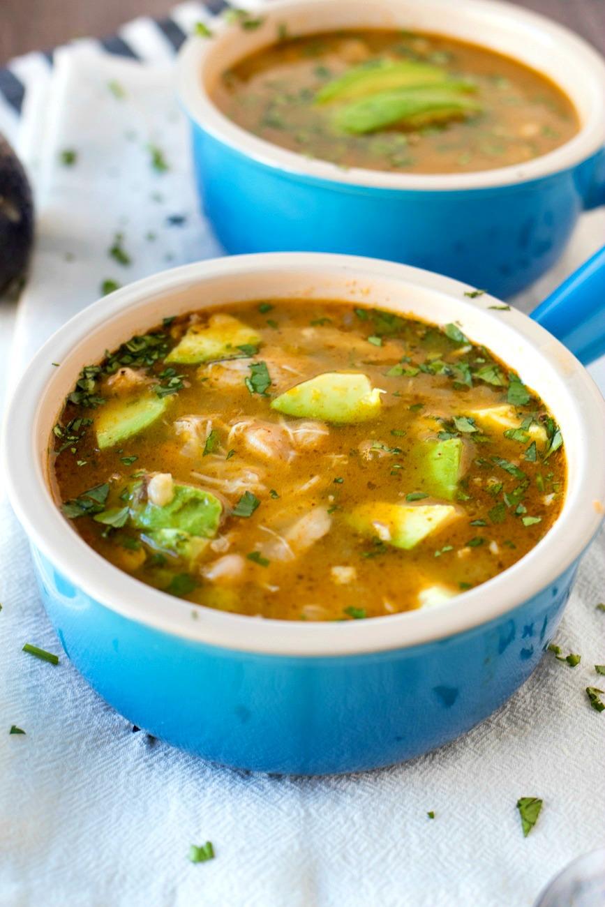 Bowl of Salsa Verde Chicken Chili