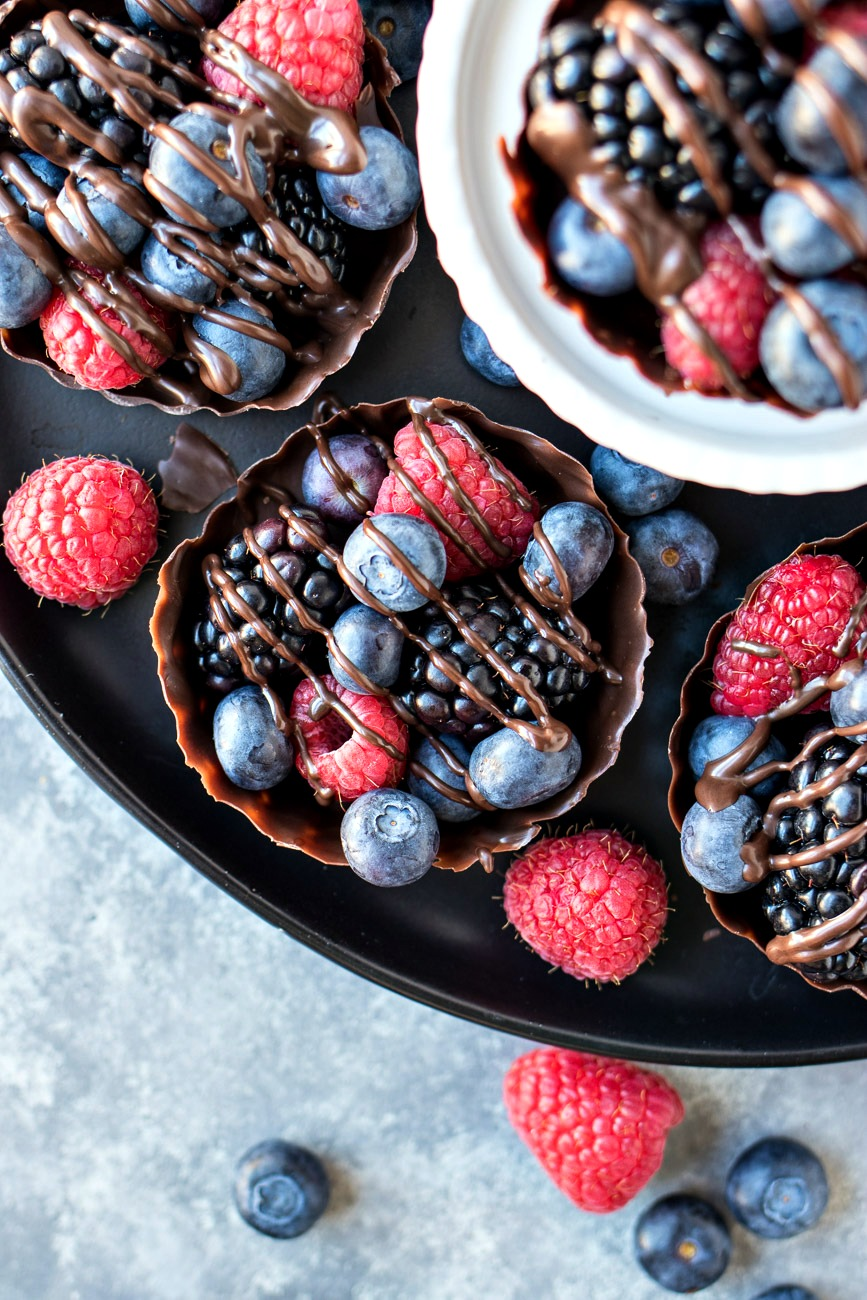 Tray of Chocolate Berry Cups