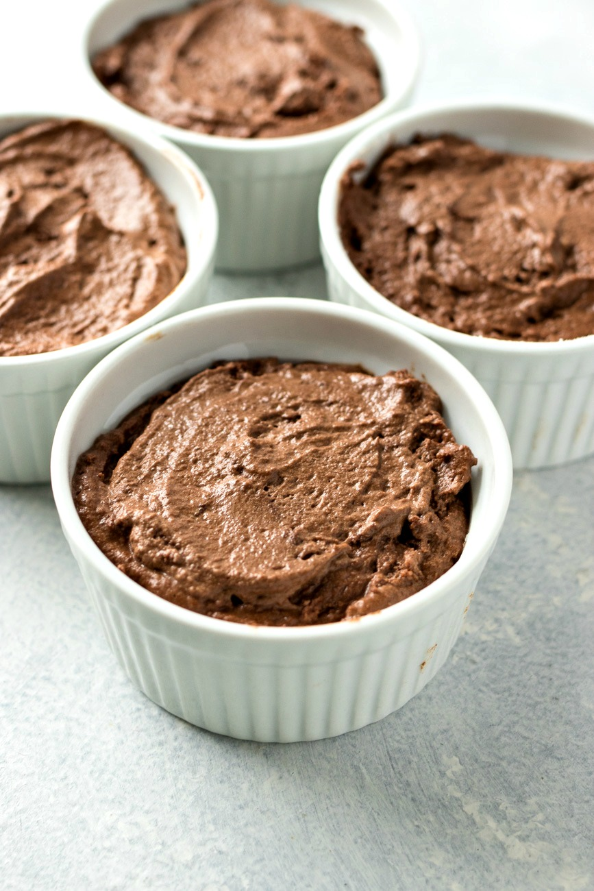 Chocolate Peanut Butter Souffle dough before cooking