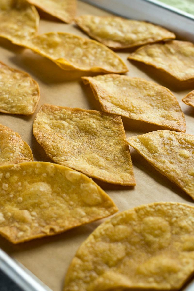 Closeup of tortilla chips