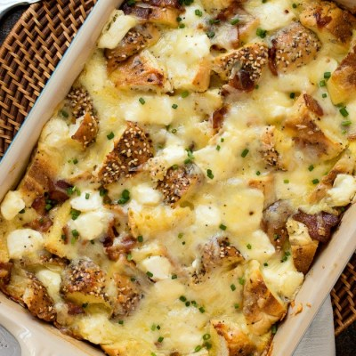 Everything Bagel Breakfast Casserole