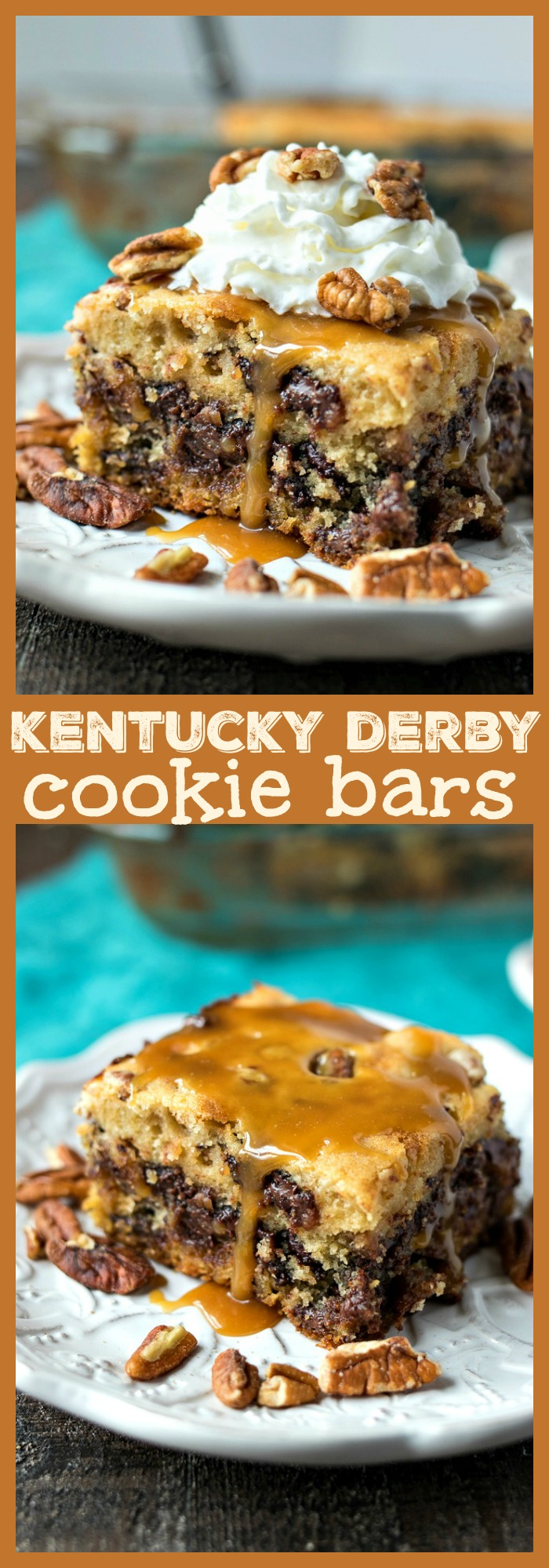 Kentucky Derby Cookie Bars photo collage