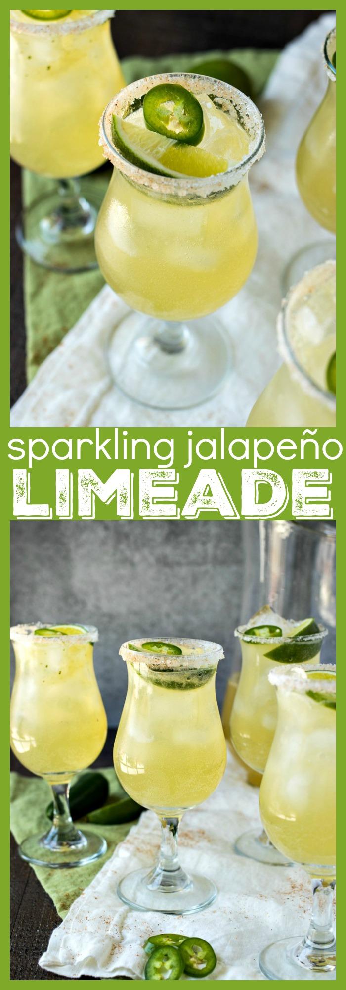 Sparkling Jalapeño Limeade photo collage