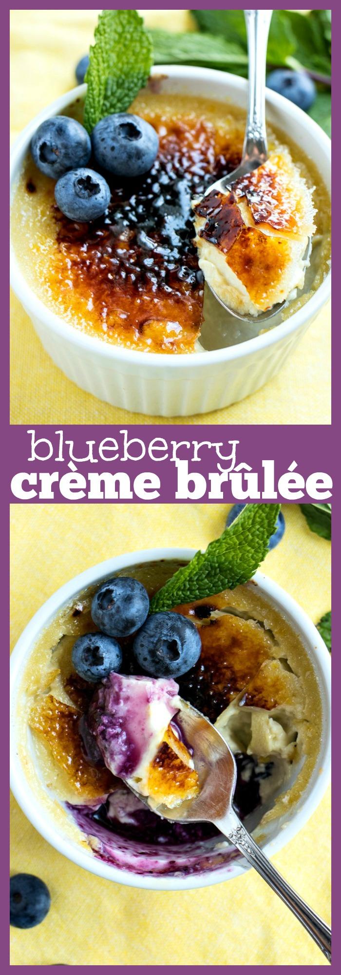 Blueberry Crème Brûlée photo collage