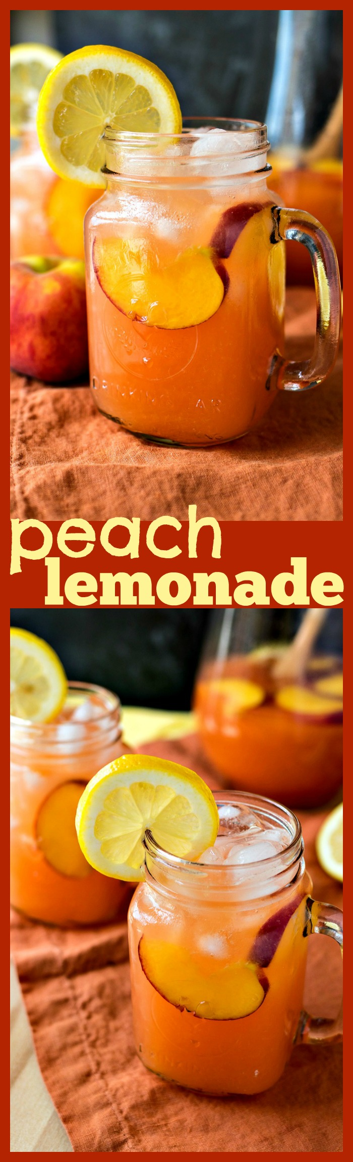 Peach Lemonade photo collage