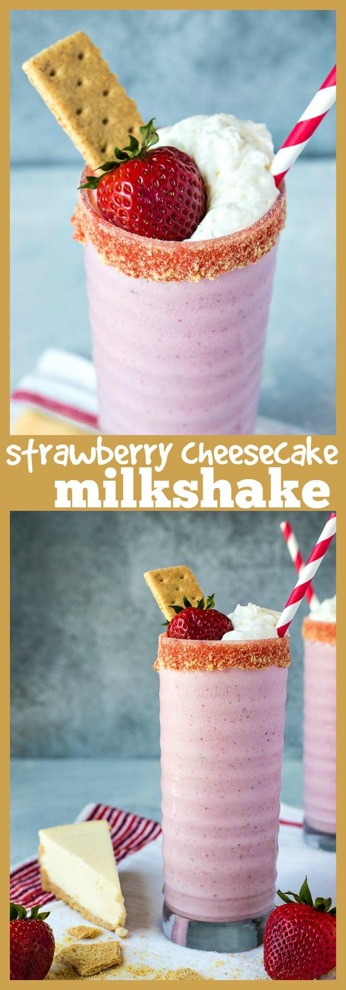 Strawberry Cheesecake Milkshake photo collage