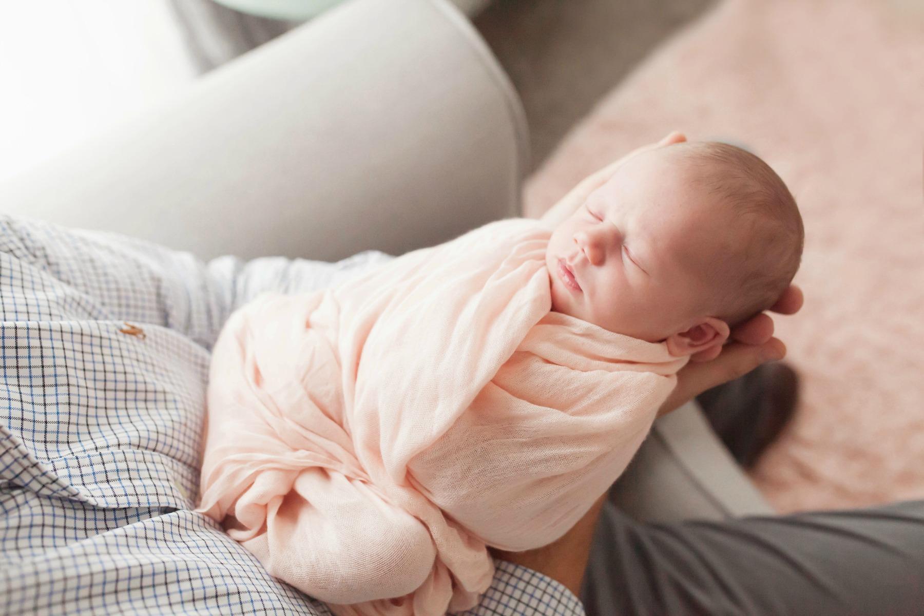 Sharon's newborn baby Luciana