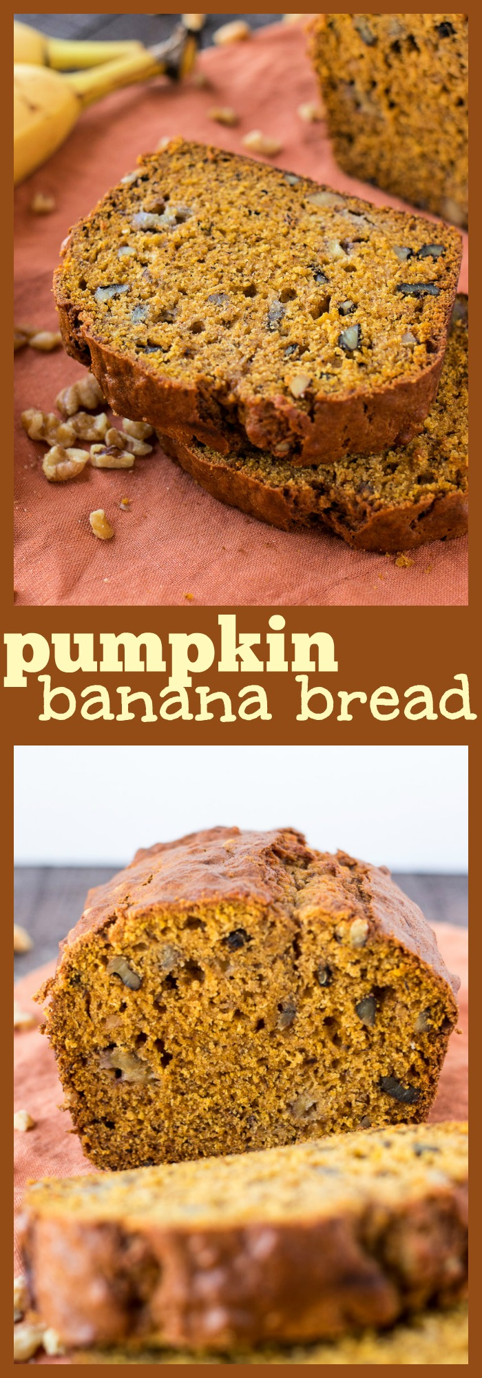 Pumpkin Banana Bread photo collage