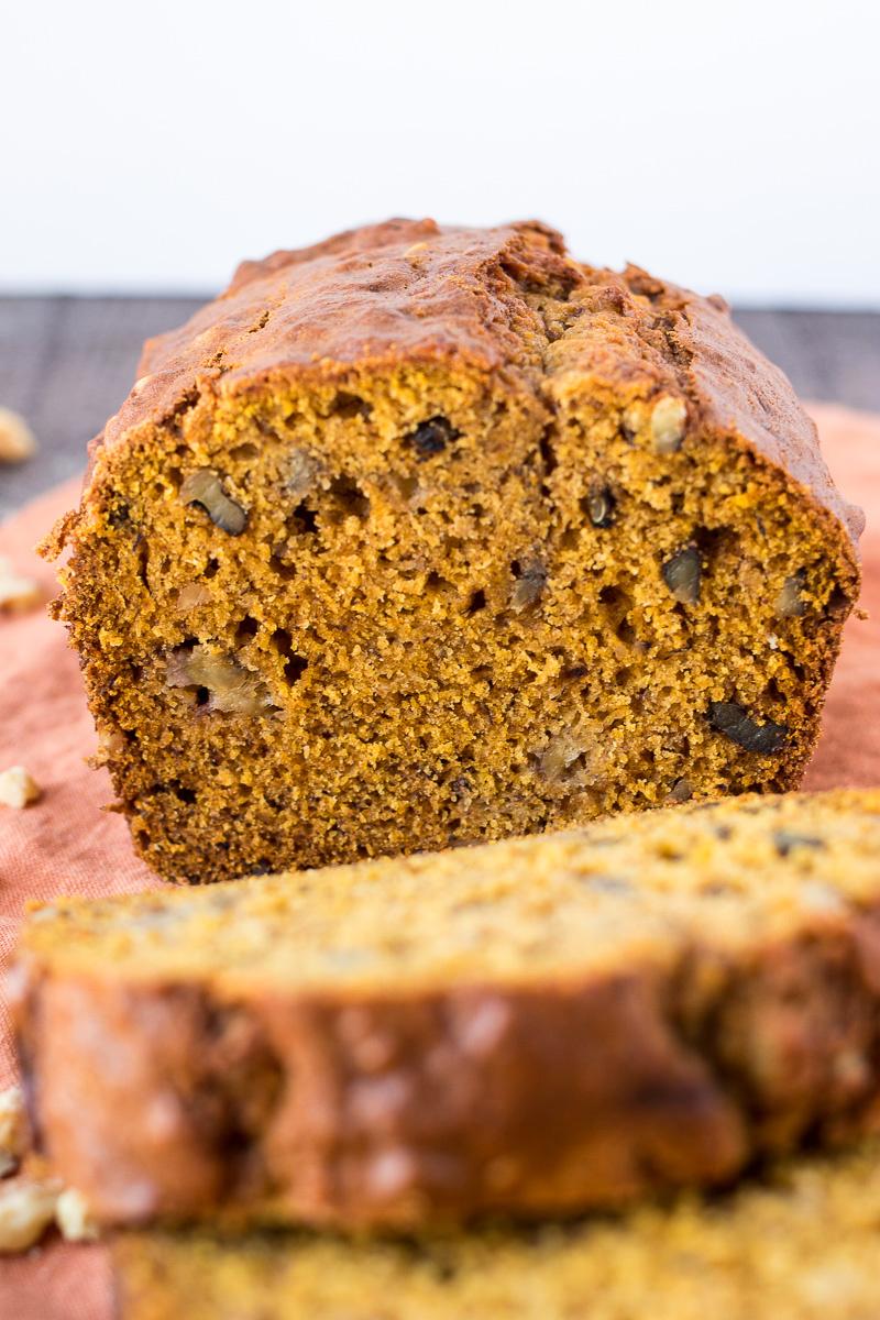 Loaf of Pumpkin Banana Bread
