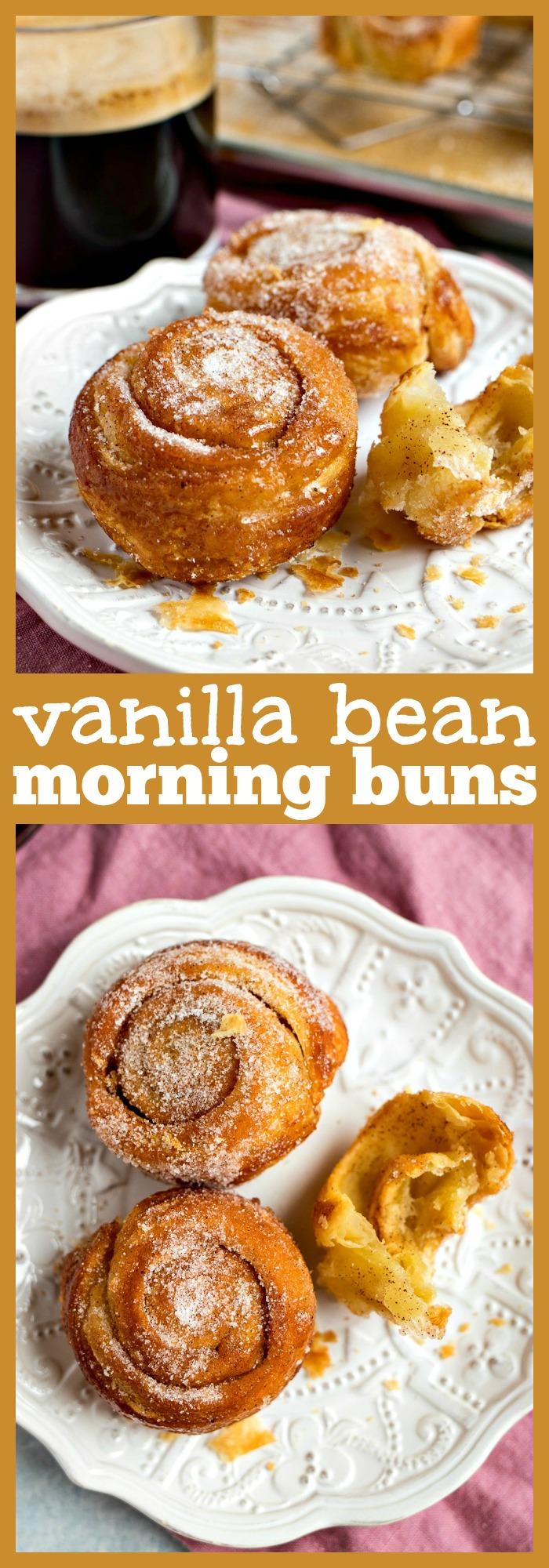 Vanilla Bean Morning Buns photo collage