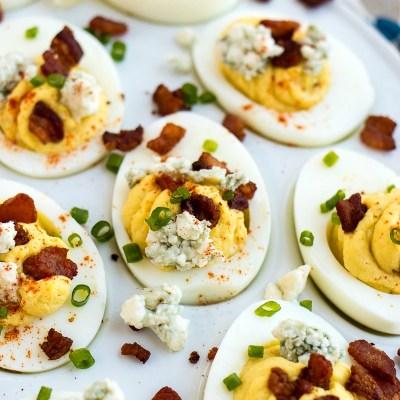Bacon & Blue Cheese Deviled Eggs