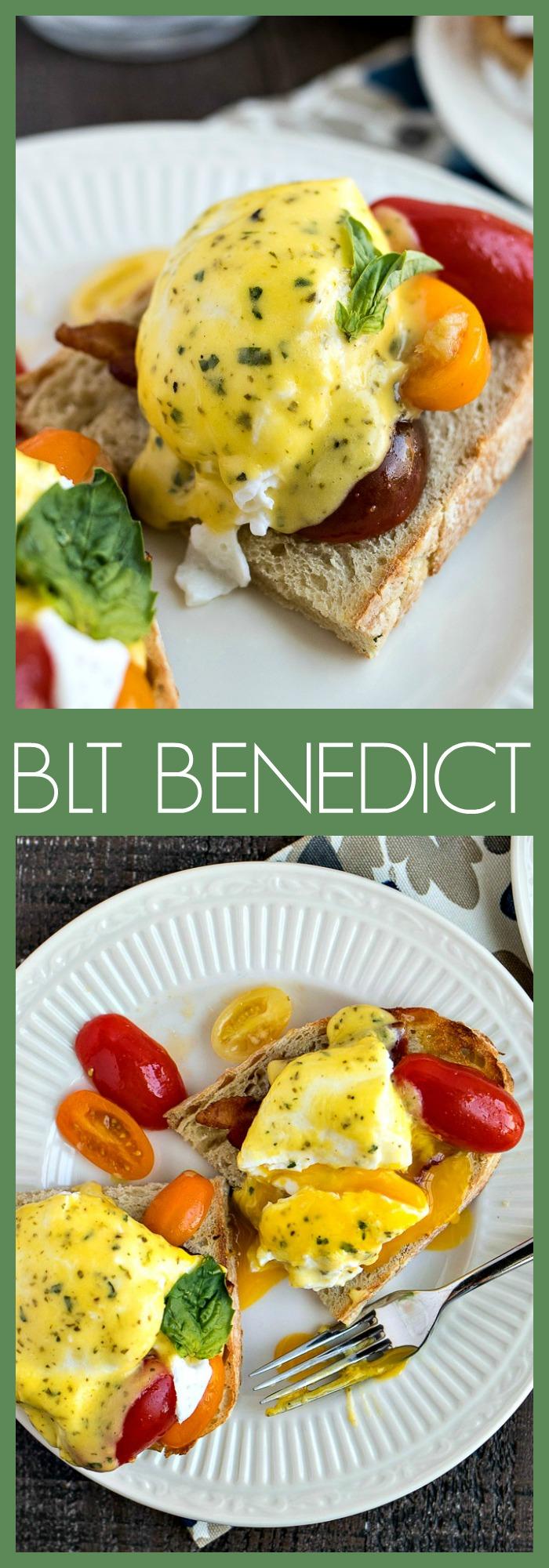 BLT Benedict photo collage