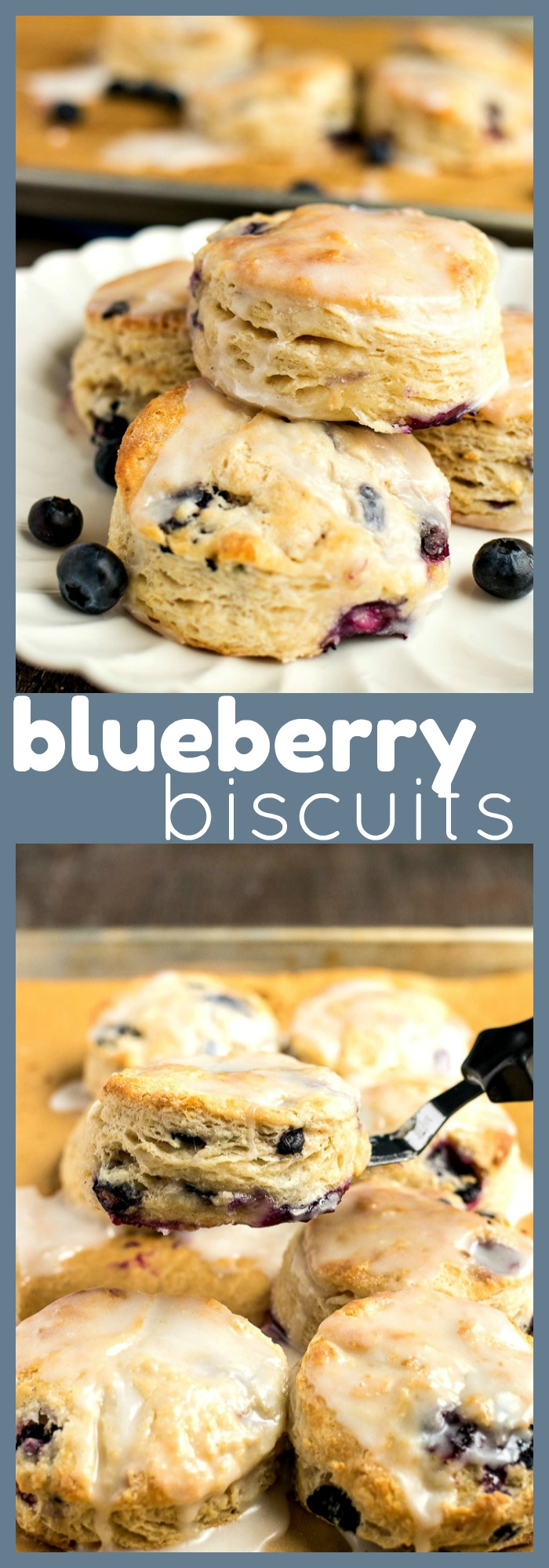 Blueberry Biscuits photo collage