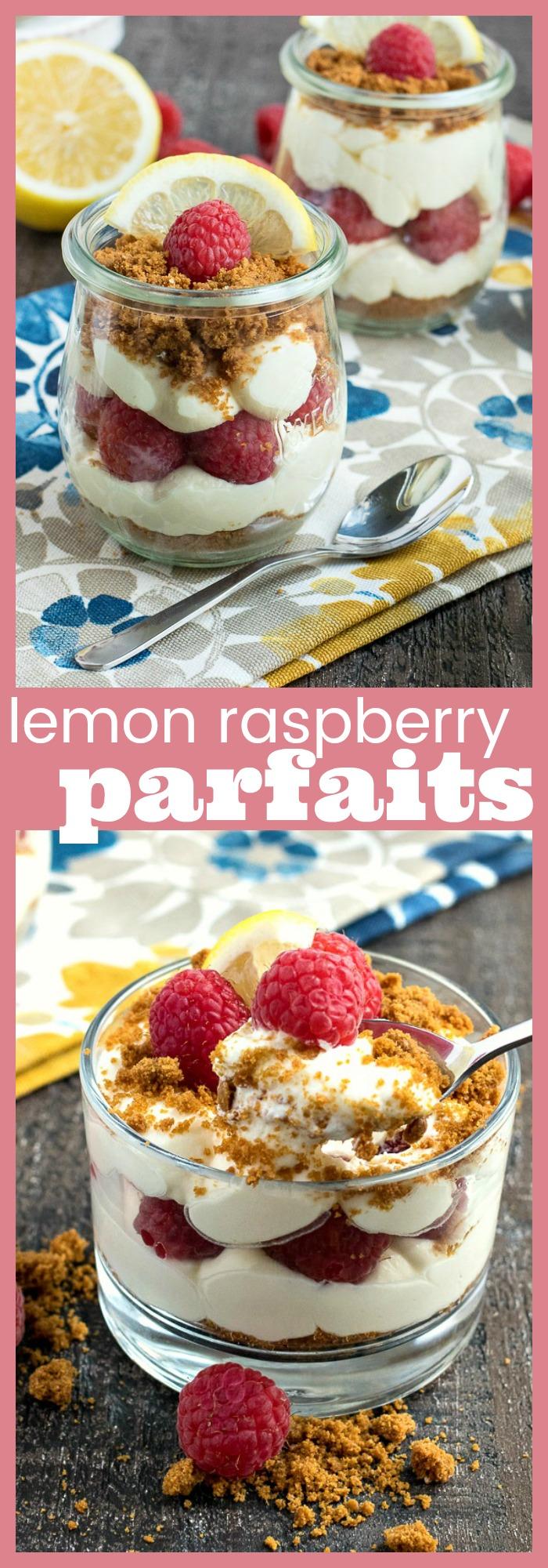 Lemon Raspberry Parfaits photo collage