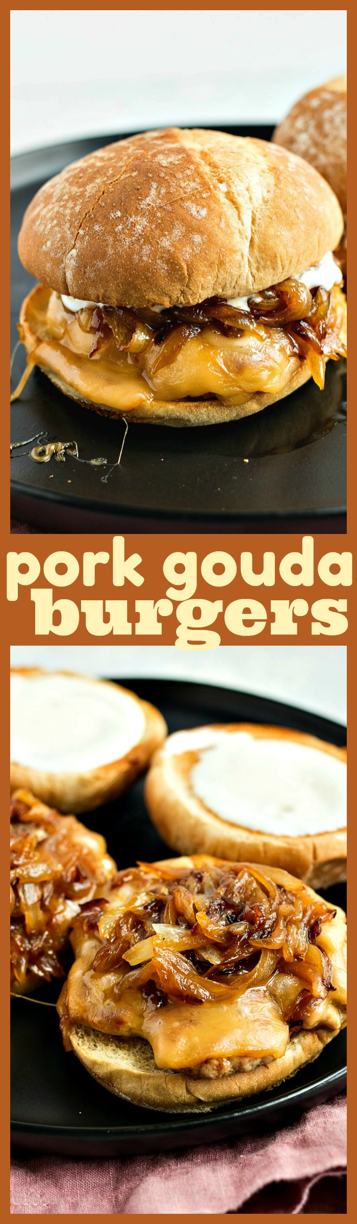 Pork Gouda Burgers photo collage