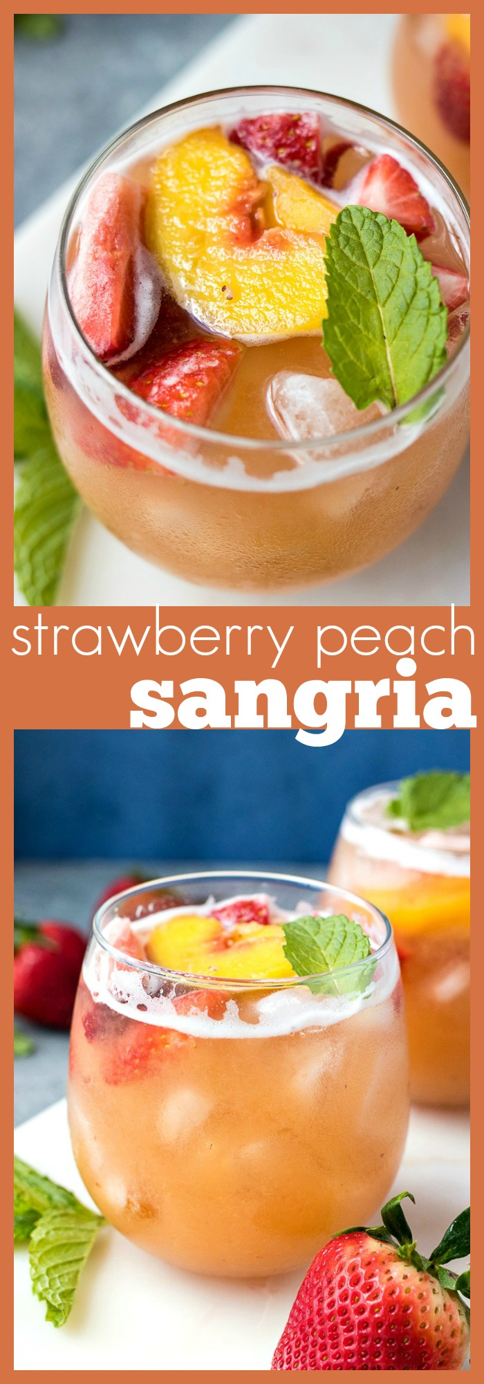 Strawberry Peach Sangria photo collage