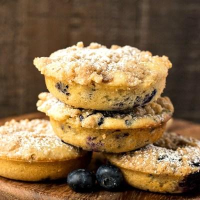 Blueberry Crumb Doughnuts
