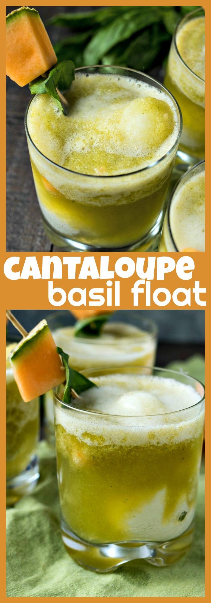 Cantaloupe Basil Float photo collage