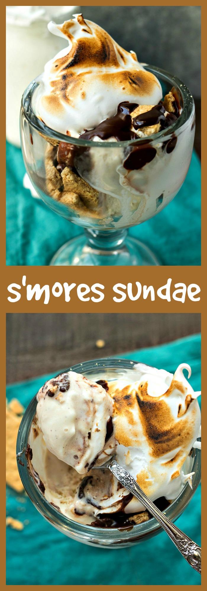 S'mores Sundae photo collage