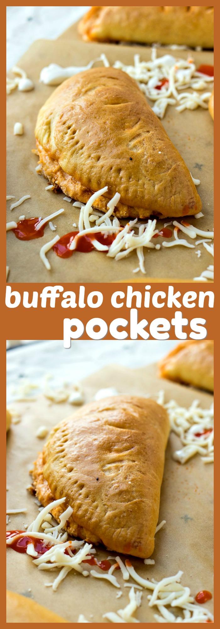 Buffalo Chicken Pockets photo collage